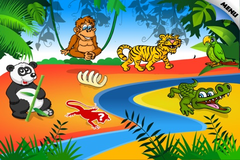 Animal Preschool Word Puzzles - FREE screenshot 1