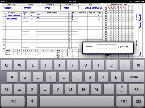 Cricket Score Sheet screenshot 3