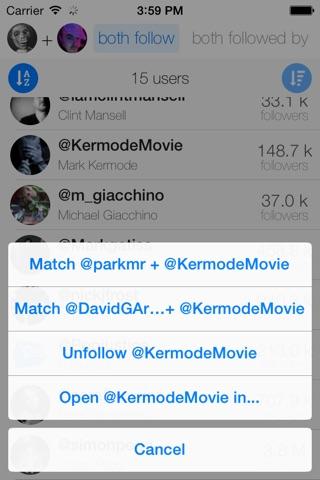 inCommon for Twitter screenshot 3