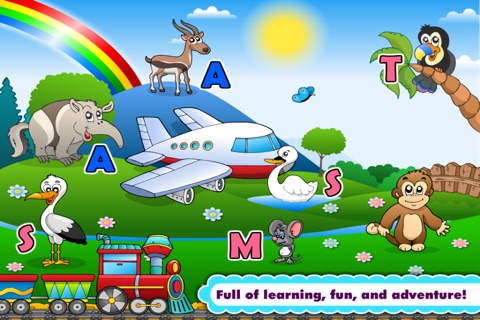 Kindergarten Phonics Island Adventure - Learn to Read Montessori Games with Puzzle Animal Train for Kids Hooked on Reading by Abby Monkey® screenshot 3