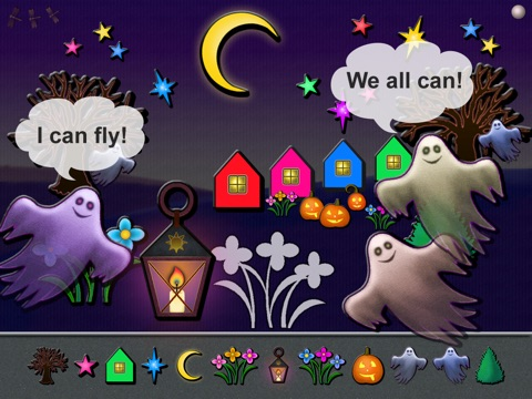 Animated Boo! Halloween Magic Shape Puzzles for Kids and SuperKids screenshot 1