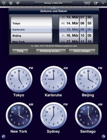 Weltuhr - The World Clock Screenshot