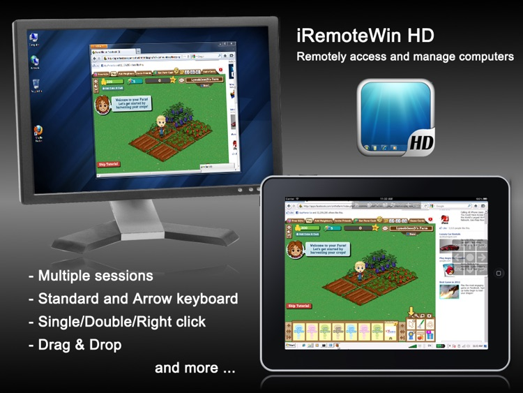 iRemoteWin HD - Remote Desktop Client for Windows by LY MobileSoft