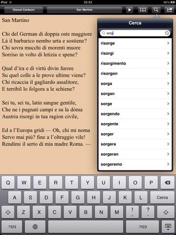 Risorgimento: Inni e poesie per iPad screenshot 2