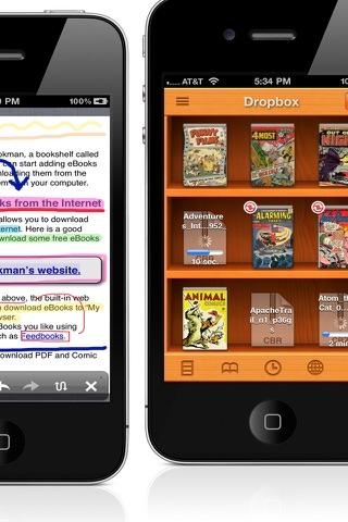 PDF/Comic Reader Bookman Pro for iPhone screenshot 3
