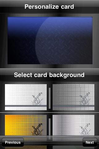 Screenshot of Business Card Maker