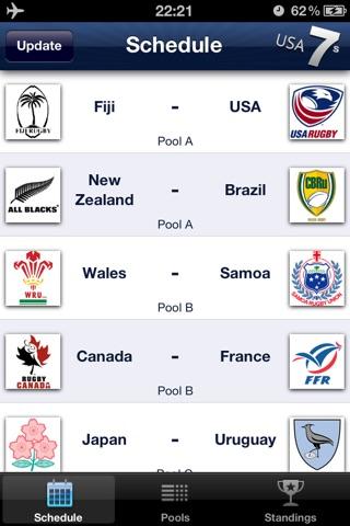 Rugby 7s USA, Las Vegas 10-12 Feb 2012 screenshot 1