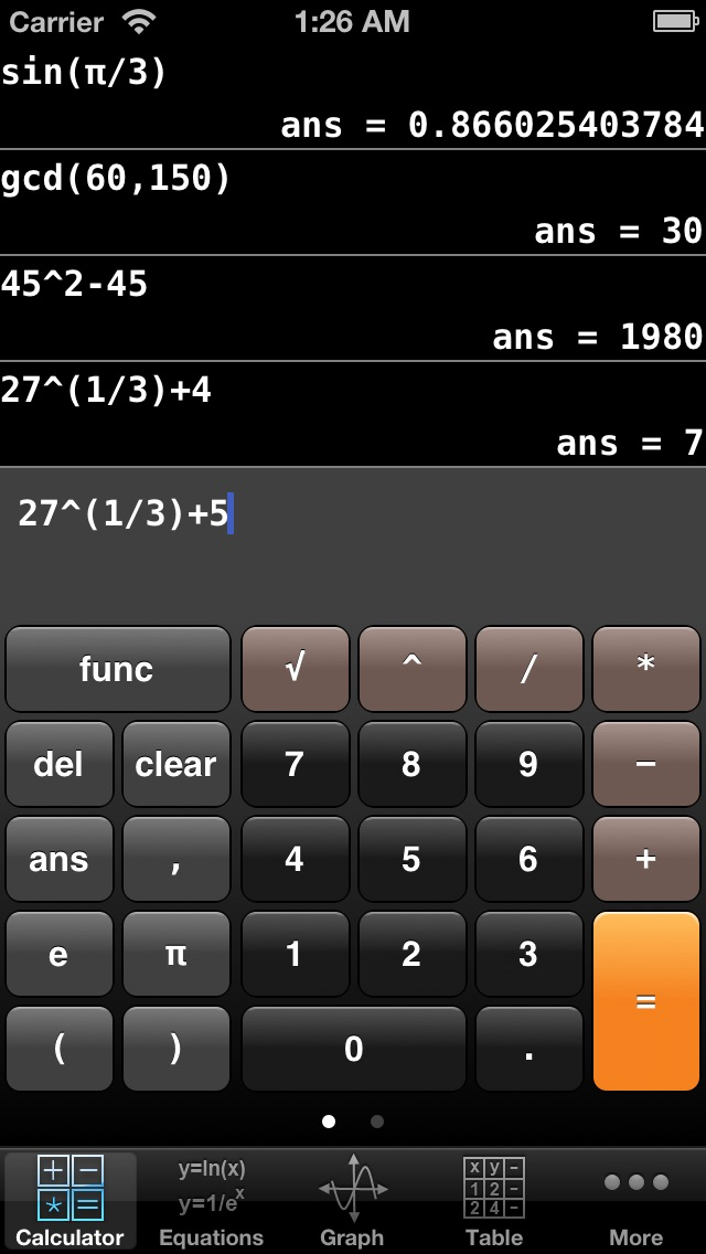 Graphing Calculator Screenshot 2