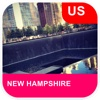 New Hampshire, USA Offline Map - PLACE STARS
