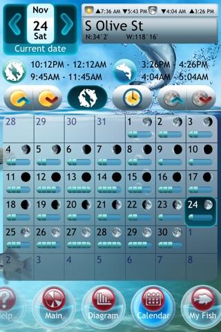 Fishing Deluxe Plus -- Best Fishing Times Calendar screenshot 2
