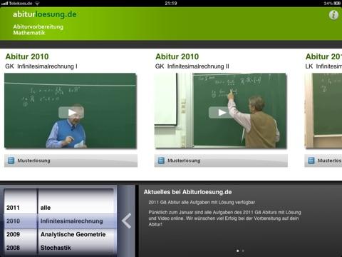 Mathe-Abitur Vorbereitung Screenshot