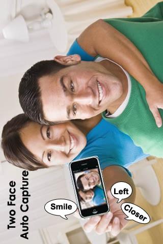 Screenshot #2 for Camera ClickMe Free: Self Portrait using face detection