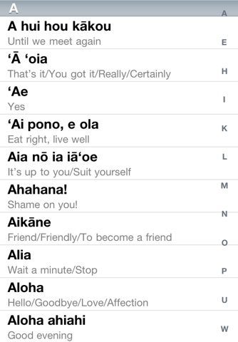 Speak Hawaiian Phrases screenshot 1