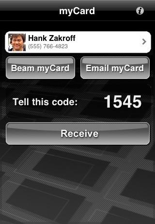 myCard screenshot 2