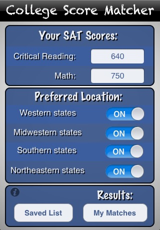 College score matcher on the app store iphone screenshot 1 sciox Images