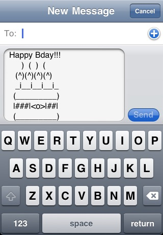 text art for iphone