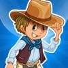 Aktiv-Spiel für Kinder mit Cowboys, Indianer und der Wilde-r Westen lernen