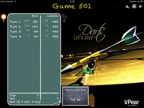 Download Let's Play Darts Scorekeeper Free HD app for iPhone