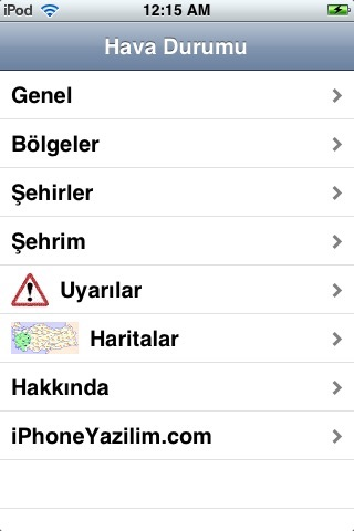 Hava Durumu (Weather Forecast for Turkey) screenshot 1