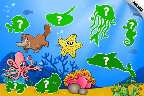 Abby - Preschool Shape Puzzle - First Word FREE (Vehicles and Animals under the Sea) screenshot 1