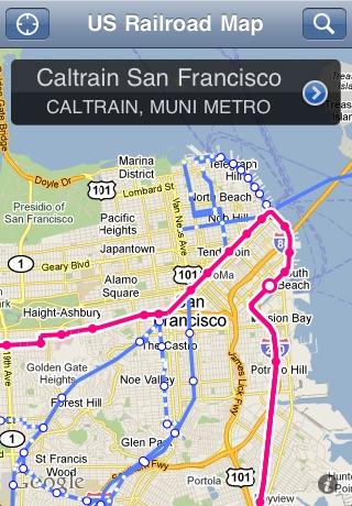 US Railroad Map On The App Store - Us muni map