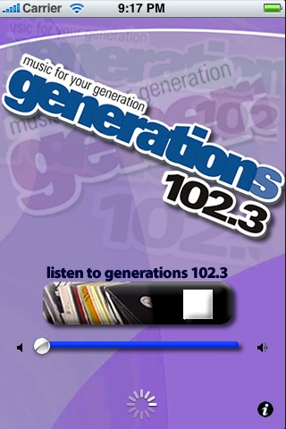 Generations 102.3 / Music For Your Generation / WZGN screenshot 1