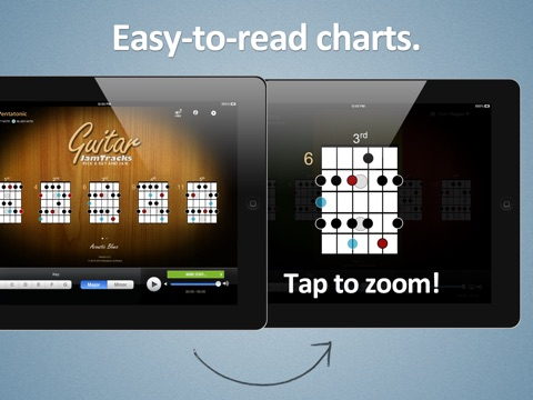 Screenshot #4 for Guitar Jam Tracks: Acoustic Blues - Free Scales App