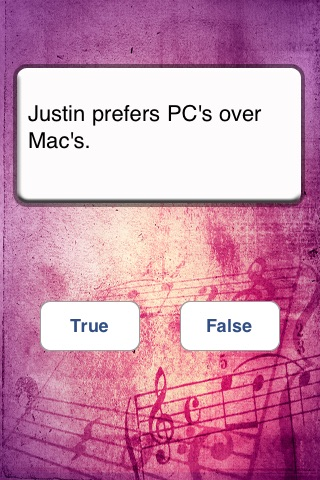 Justin Bieber: True or False screenshot 2