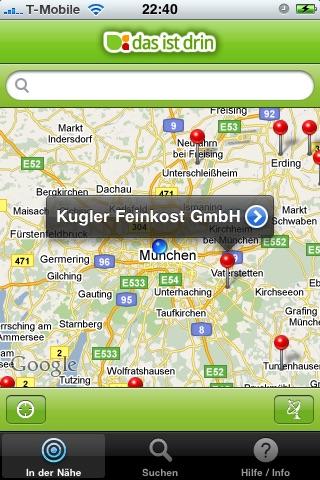 das-ist-drin Foodtracker Screenshot