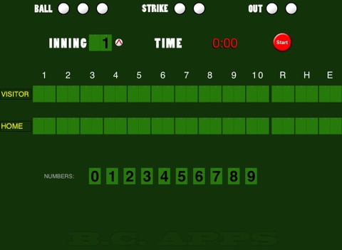 Baseball/Softball Scoreboard screenshot 1