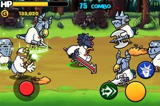 Screenshots of Chicken Revolution : Warrior for iPhone
