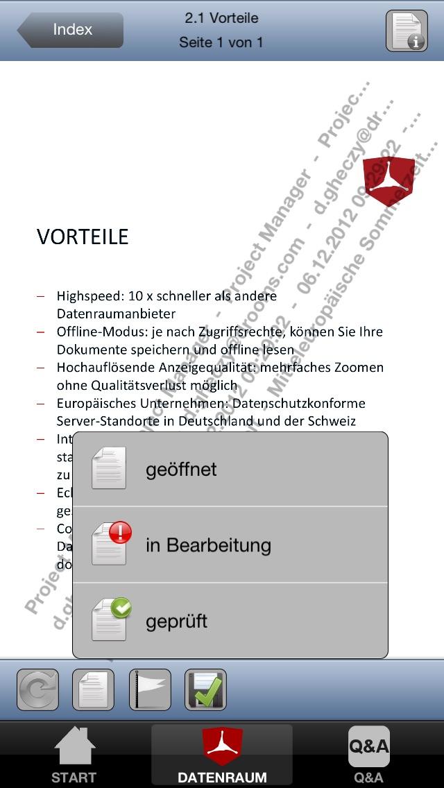 Screenshot von Drooms® für iPad und iPhone3