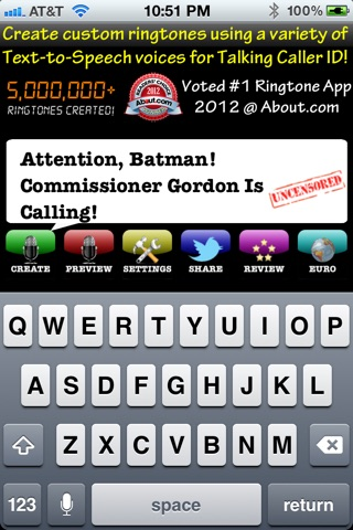 Uncensored Ringtones MALE Voices Talking Ringtone Creator screenshot 2