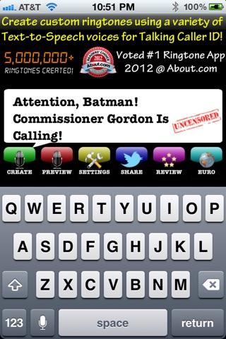 Uncensored Ringtones MALE Voices Talking Ringtone Creator screenshot 2