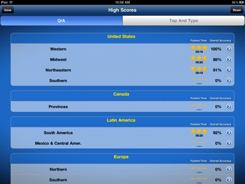 Tapquiz maps world edition on the app store ipad screenshot 5 sciox Images