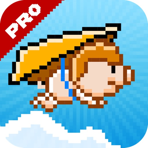 Gliding Pig Pro - The Bird turned into a Pig iOS App