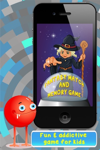 Fantasy Match and Memory Game Free -  improve kids learning, concentration and brain training skills with focus on creative imagination. screenshot 1