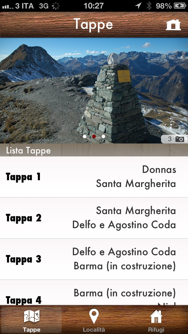 Screenshot of Alte Vie della Valle d'Aosta2