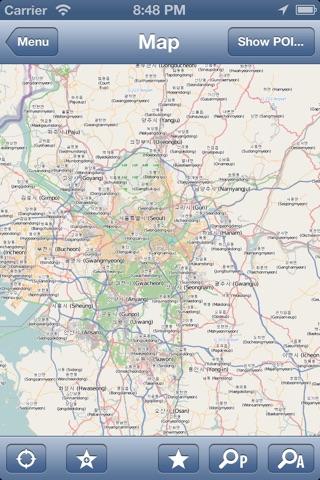 Seoul, Korea Offline Map - PLACE STARS screenshot 2