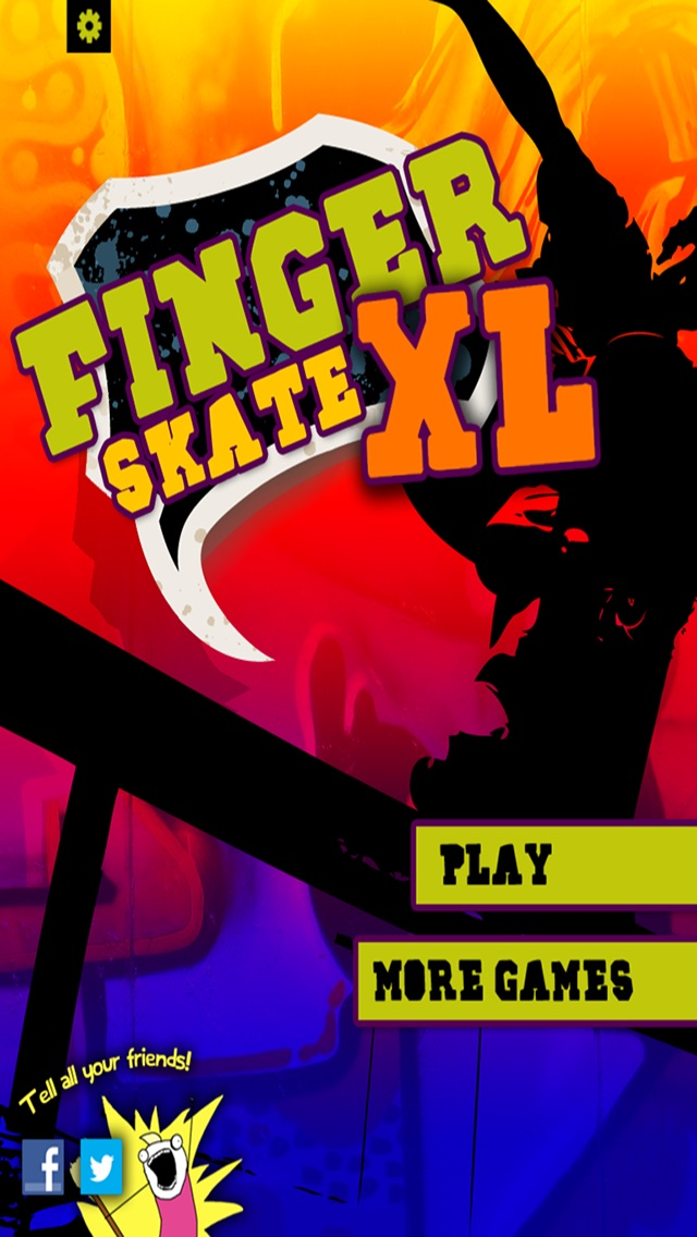 Screenshot of Finger Skate XL FREE1