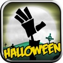 Paper Zombie Halloween icon
