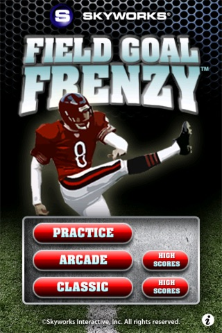 Field Goal Frenzy™ Football - The Classic Arcade Field Goal Kicking Game screenshot 1