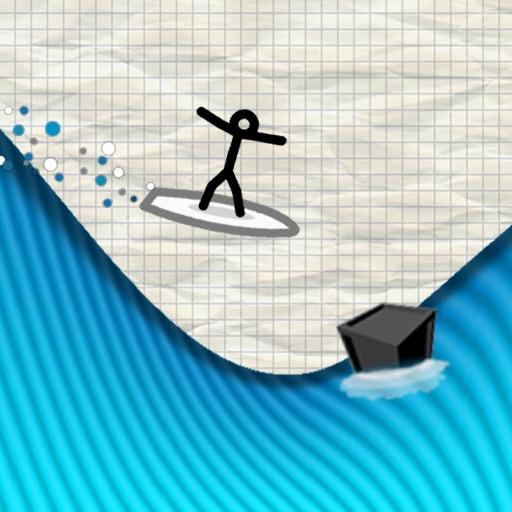 冲浪火柴人:Line Surfer【自虐小游】