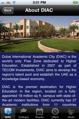DIAC Student Hub screenshot 2