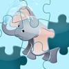徒步旅行隊的拼圖 - 拼圖的遊戲為兒童,幼兒和家長! 學習 與動物,獅子,大象,河馬,猴子,鸚鵡,老虎和幼兒園,學前班和幼兒園