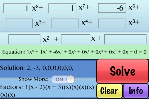Factor Polynomials screenshot 2