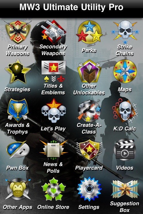 Ultimate Utility Pro for MW3 (Guide for Modern Warfare 3) by Brass Monkeigh  Apps LLC