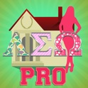 Go Greek Pro - Sorority Edition: Greek Letter Photo Stickers icon