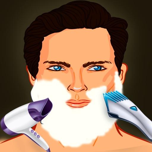 betrunkenen Barbier rasieren Haar Beauty-Salon: der Bart geschnitten Entfernung gefährlicher Verjüngungskur - Gratis-Edition