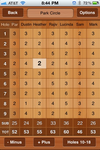 Golf Scorecards screenshot 1